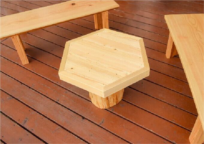 ウッドベンチ&テーブル